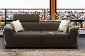 Canapé Gris Cuir : canap 2 places en cuir italien divin gris fonc mobilier priv ~ Teatrodelosmanantiales.com Idées de Décoration