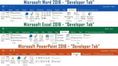 show developer tab excel 2010 mac add developer tab