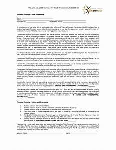 personal training contract agreement it resume cover With personal trainer contract templates
