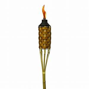 TIKI 57 in Kauai Bamboo Torch-1112478 - The Home Depot