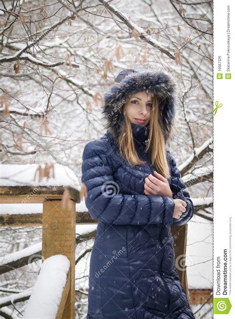 snow girl royalty  stock image image