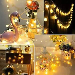 Led, Globe, String, Lights, 15ft, 30, Led, Waterproof, Fairy, String, Lights, Outdoor, String, Lights