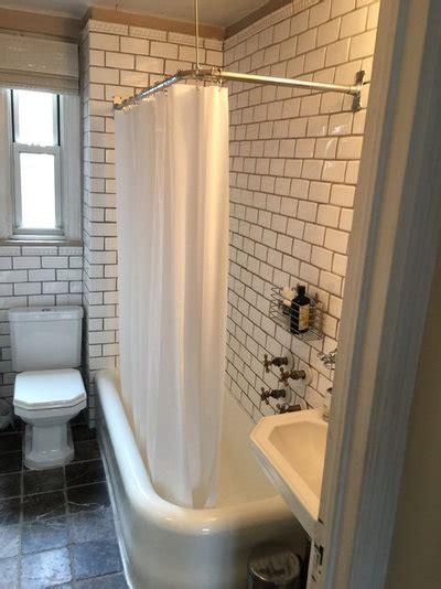narrow  square foot bathroom  glam