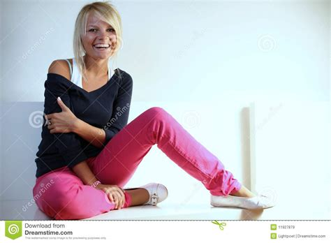 beautiful girl laughing royalty  stock images image