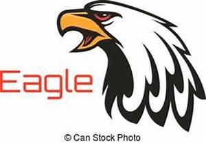 Eagle, hawk vector mascot emblem. Bald eagle head vector ...