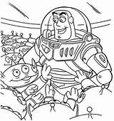 Coloring Alien Toy Story Aliens Planet Printable Space Outer sketch template