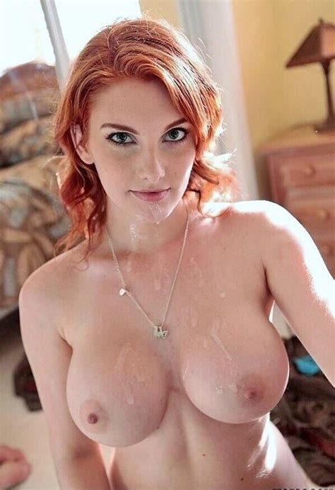 Gorgeous Red Head With Cum Covered Tits Xxx Photo