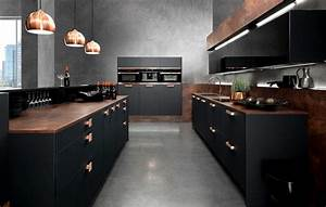 interior design trends 2015 the dark color schemes are With kitchen cabinet trends 2018 combined with metal copper wall art