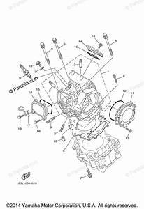 Yamaha Atv 2014 Oem Parts Diagram For Cylinder Head