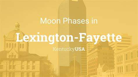 moon phases  lunar calendar  lexington fayette