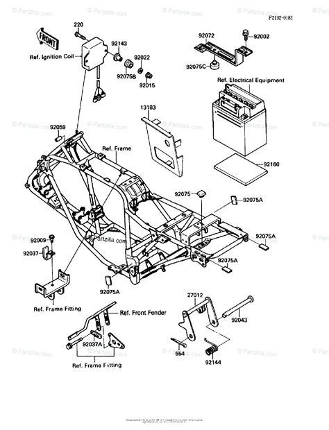 Kawasaki Atv Oem Parts Diagram For Battery Case