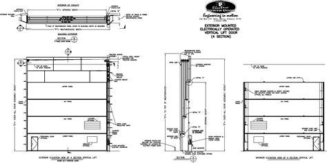 roll up table plans hormann garage door cad details wageuzi
