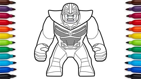 Thanos Free Colouring Pages