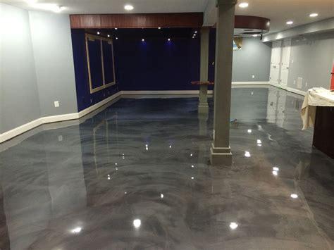 Designer Epoxy Basement Floor In Manassas Va Reflector
