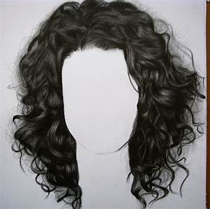 Realistic Curly Hair Drawing - DRAWING ART IDEAS