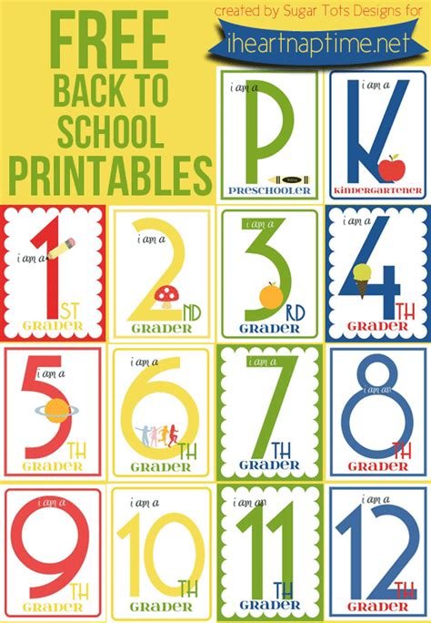 school ideas  printables