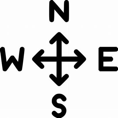 North Direction South East West Arrow Icon