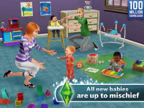 the sims freeplay receives baby toddler update on mobile