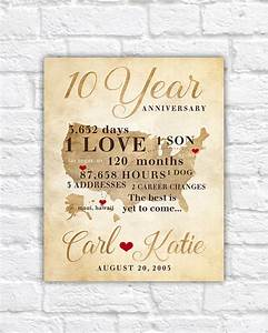10 year anniversary gift gift for men women his hers 10th With 10 year wedding anniversary gifts for men
