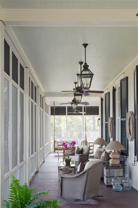 screened porch traditional porch charleston