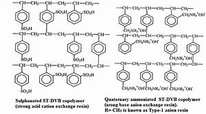 Micro Structure Of Strong Acid Cation  Sac  And Strong Base Anion  Sba