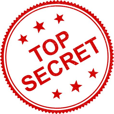 4 Top Secret Stamp Vector (png Transparent, Svg) Onlygfxcom