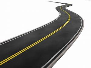 Curved road on white background | PSDGraphics