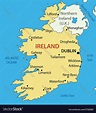 Republic of Ireland - map Royalty Free Vector Image