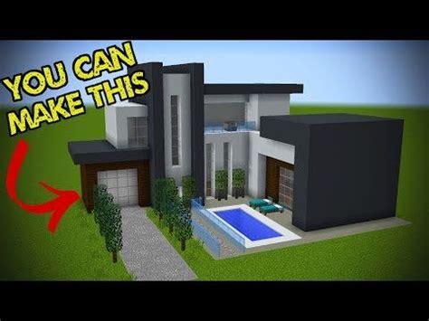 easy steps    minecraft modern house youtube  images minecraft modern