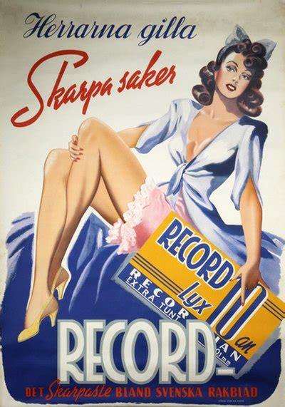 original vintage poster record rakblad razor blades