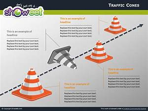 Traffic Cones Diagrams For Powerpoint