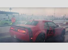 Dodge Demon Drag Races Ford Mustang Boss 302, The Gap Is
