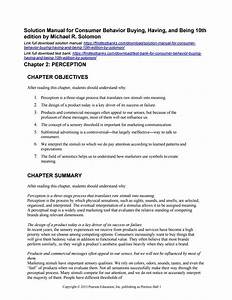 Solution Manual For Consumer Behavior Buying Having And