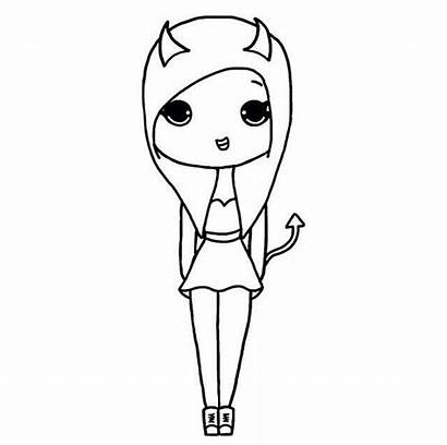 Chibi Drawing Drawings Draw Bff Easy Devil