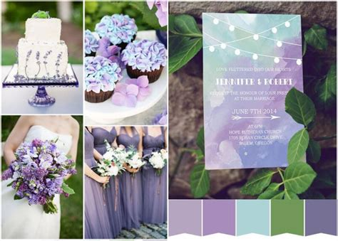 wedding decorations in purple and green inexpensive blue purple and green watercolor stringlights wedding invitations ewi370 as low as