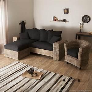 Canapé En Rotin : canape rotin pas cher maison design ~ Teatrodelosmanantiales.com Idées de Décoration