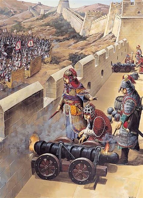 siege canon ming siege cannon on the great wall of china 1629