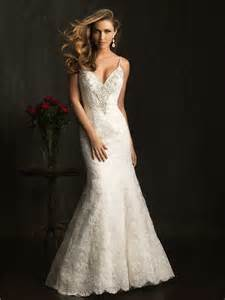 fitted wedding gowns slim fitted mermaid spaghetti straps v neck lace beaded wedding dress backless