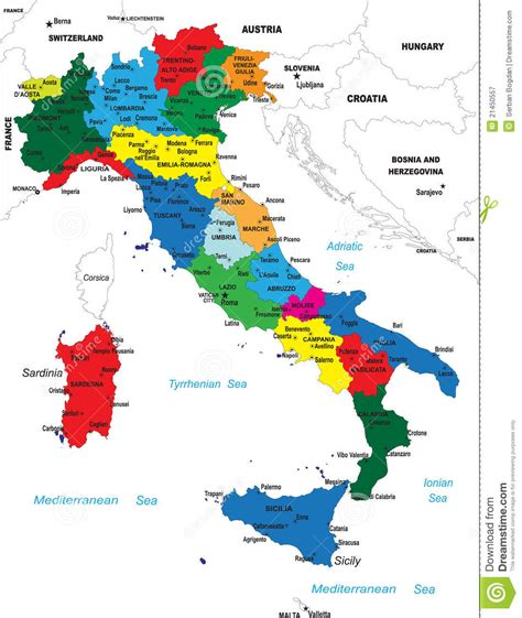 political map  italy stock image image  belluno