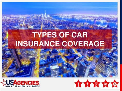 Health insurance provides following types of coverage: Types of Car Insurance Coverage