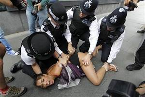 The Sun: Topless protesters arrested for Olympics stunt