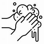 Washing Lavado Icon Covid Manos Icons Svg