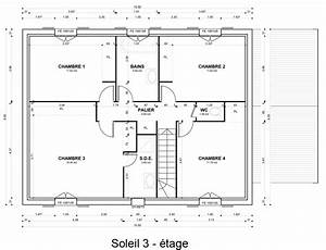 modele de plan maison idee amenagement plan maison bois With exemple plan de maison
