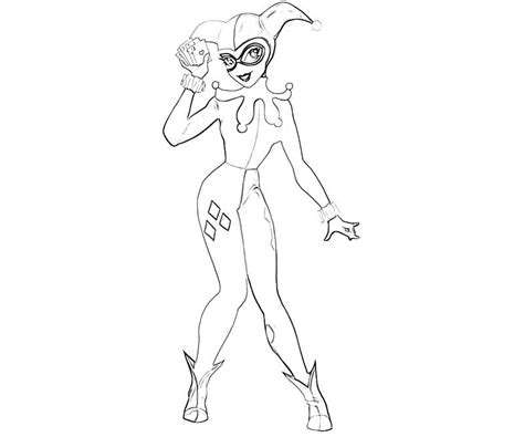 batman arkham city harley quinn character  coloring
