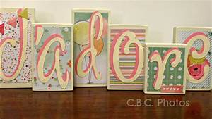 Home decor wood letter blocks j39adore by thechubbybunnyshop for Letter blocks home decor