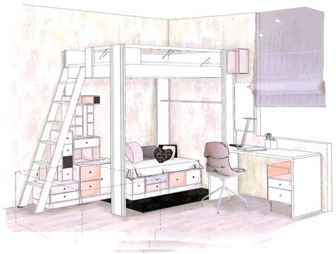 bureau vibel chambre ado fille mezzanine gallery of chambre ado lit