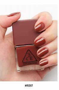 3CE MOOD RECIPE long Lasting Nail Lacquer #RD07 Chic Warm Red 10 | Beauticool.com
