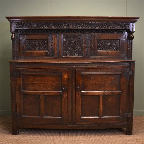 Antique Cupboard by Magnificent Country Oak 17th Century Antique Court