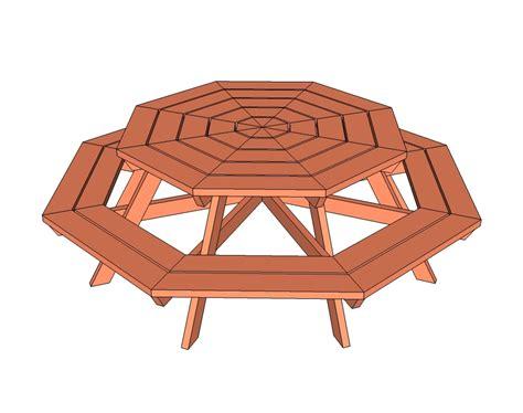 wooden hexagon picnic table plans
