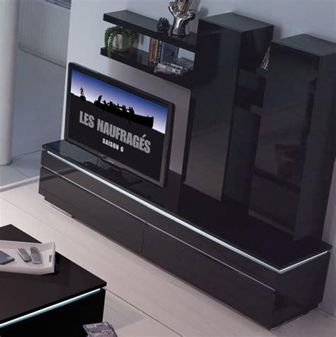 banc tv noir conforama photo 6 10 finition contemporaine
